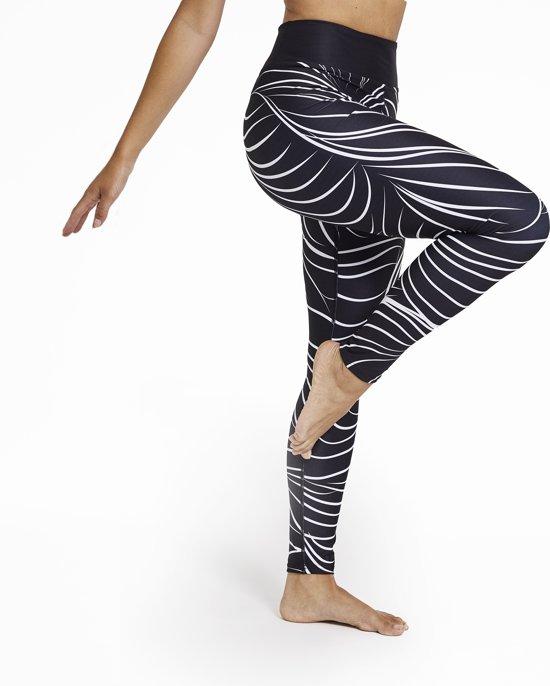 Relax - Dames Leggings - Yoga & Fitness - Hoge Taille - Sneldrogend - Black & White