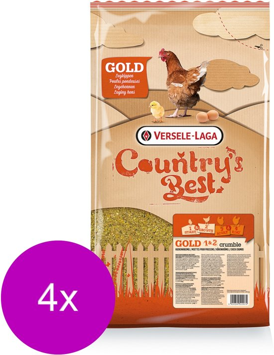 Versele-Laga Country`s Best Gold 1&2 Crumble - Kippenvoer - 4 x 5 kg