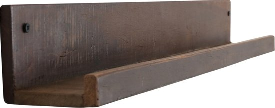 Plank Met Opstaande Rand.Raw Materials Factory Wandplank 75 Cm Gerecycled Hout