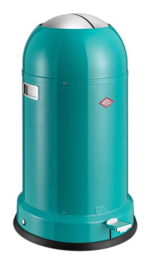 Wesco Kickmaster Blauw.Wesco Kickmaster Classic Line Soft Pedaalemmer 33 Liter Turquoise