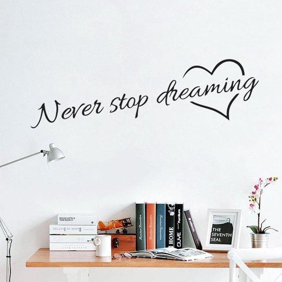 Waar Koop Ik Muurstickers.Bol Com Muursticker Never Stop Dreaming