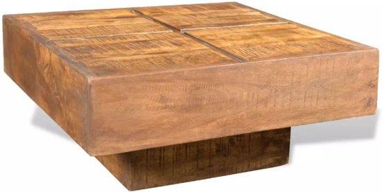 Bol vidaxl salontafel vierkant massief mangohout bruin