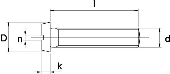 Metaalschroef Ck RVS A4 M3x20mm - 200 stuks