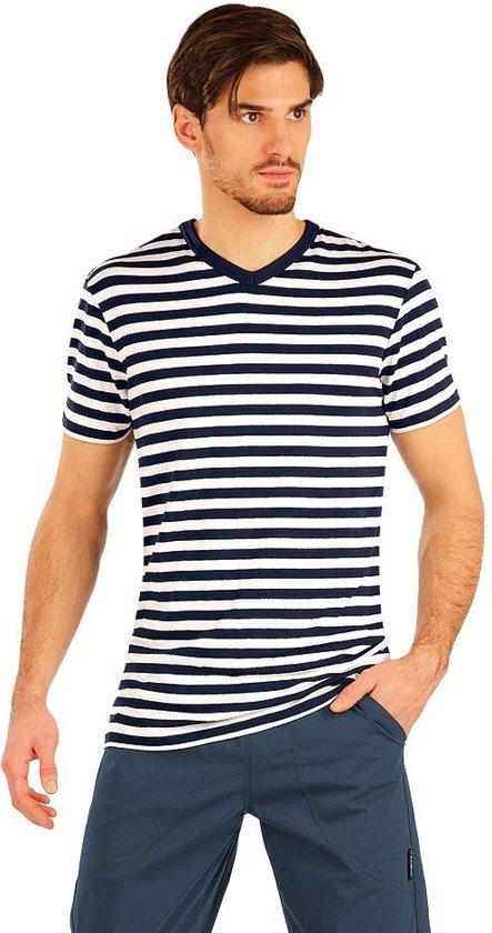 Uitzonderlijk bol.com | Litex Sportswear | Heren t-shirt blauw-wit gestreept | XL VY17