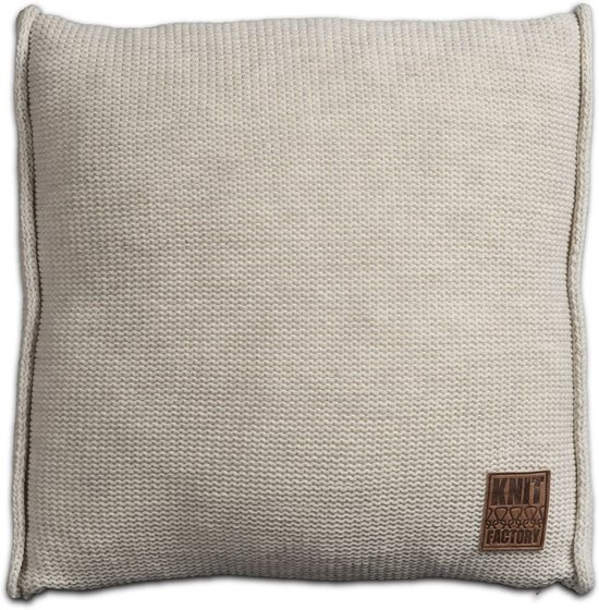 Knit Factory Uni Kussen - 50x50 cm - Beige