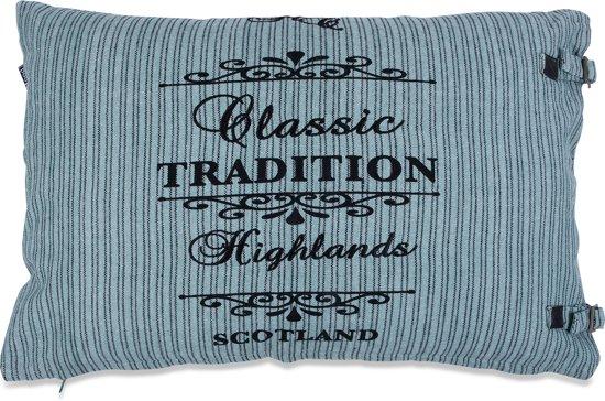In The Mood Tradition Stripe - Sierkussen - 40x60 cm - Darkmint