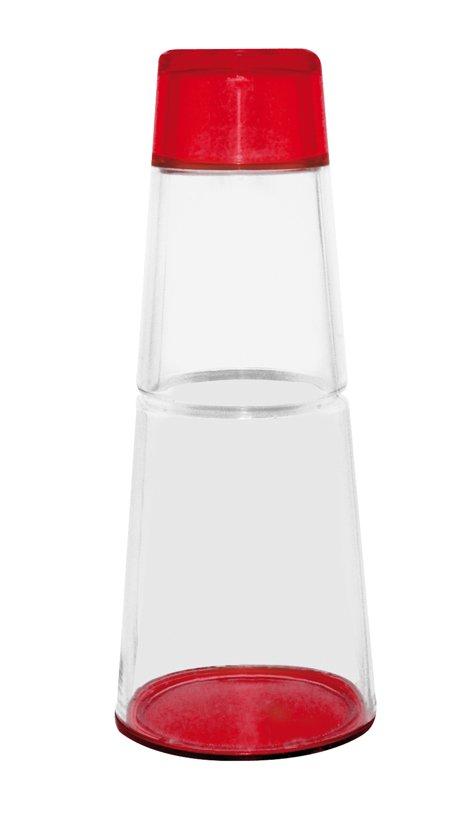 Zak! Designs Fizz 1 Liter Karaf Met Drinkbeker - 30 Cl Set - Rood