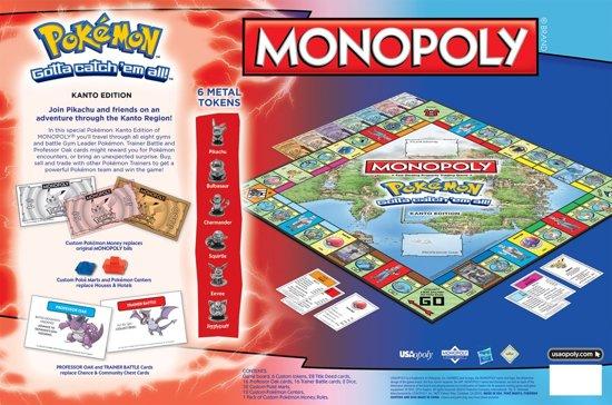 Monopoly Pokémon Kanto Edition - Engelstalig Bordspel