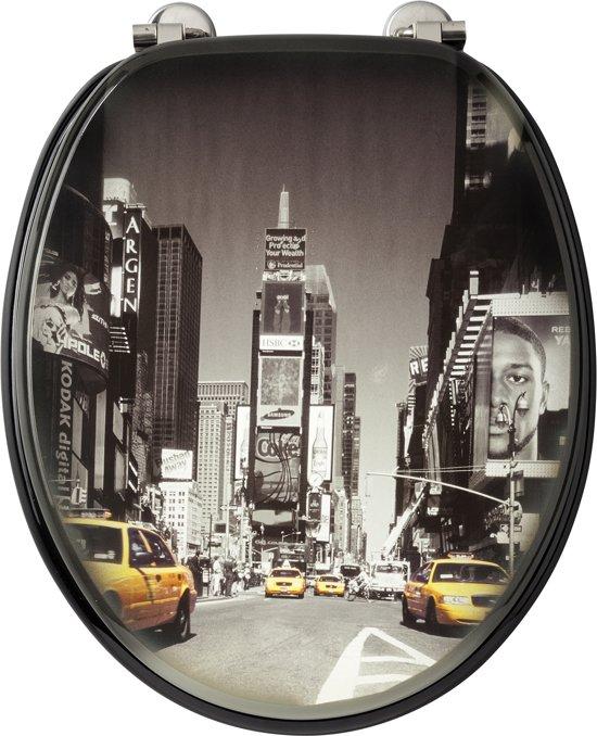 Cars Wc Bril.Allibert Wc Bril New York Mdf Verchroomde Scharnieren Decor