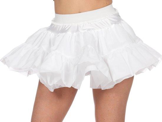 Petticoat kort wit hard voor dame