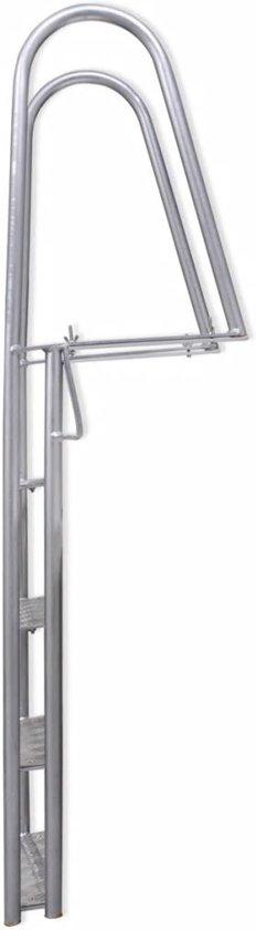 vidaXL Dok/zwembadladder met 4 treden aluminium 170 cm