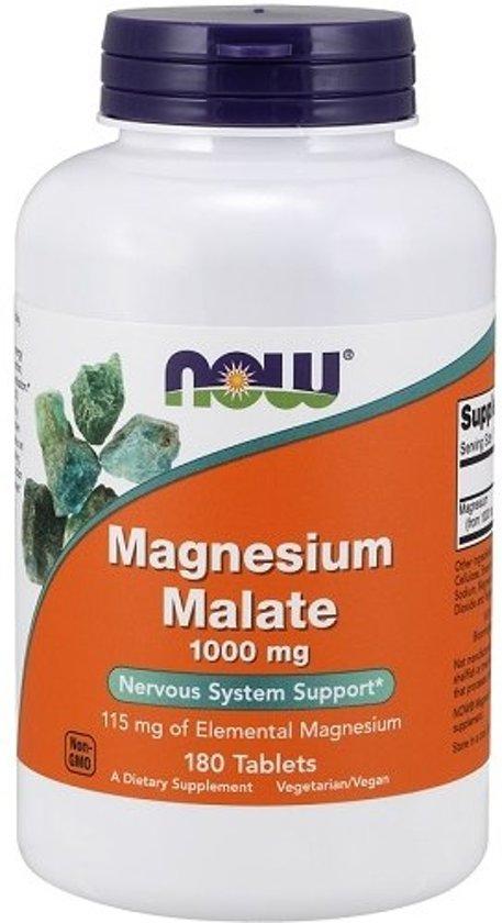 Magnesium Malate 1000mg Now Foods 180tabl