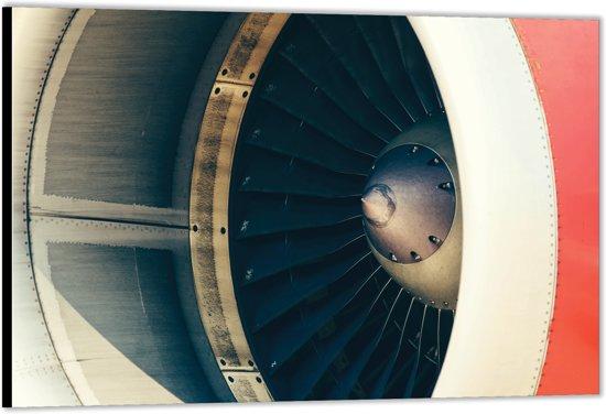 Dibond –Moter van een Vliegtuig– 40x30 Foto op Aluminium (Wanddecoratie van metaal)
