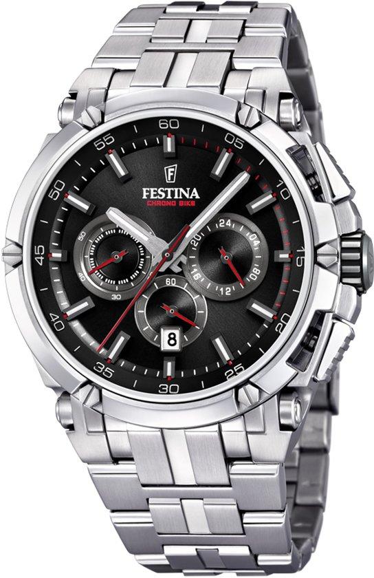 Festina F20327/6 horloge heren - zilver - edelstaal