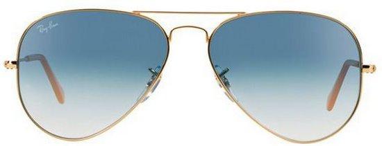 Ray-Ban RB3025 001/3F - Aviator (Gradiënt) - zonnebril - Goud / Lichtblauw Gradiënt - 55mm