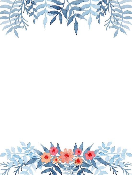 LeuksteWinkeltje Briefpapier Witte bloesem 8 vellen - voor volwassenen