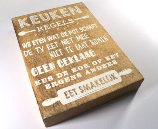 Spreuken Op Hout.Wandborden Hout Spreukbord Keuken Regels Spreuken Woondecoratie Cadeau Verjaardag