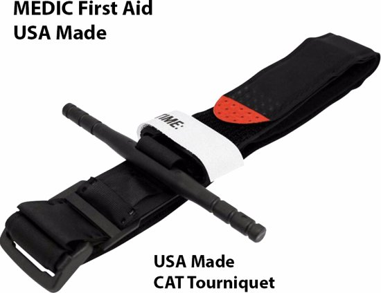 MEDIC First Aid CAT Tourniquet | USA Made | Survival | Industrie | Buitensport | EHBO | First Aid Kit | Geschikt voor Huis, Auto, Camping, Boot, Op Reis, Sport