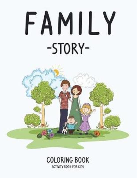 Family Story Coloring Book