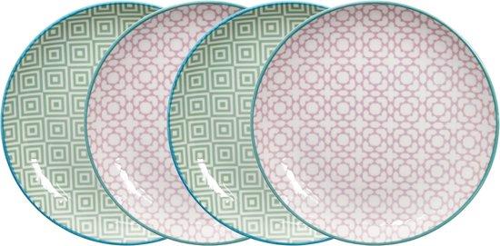 Tokyo Design Studio Geometric Eclectic Bord Ø 21 cm (set van 4)