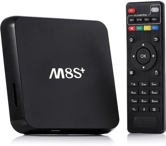 M8S+ plus Android Tv box Kodi 2GB 8GB 4.0 Bleutooth + GRATIS Rii i8 Zwart draadloos toetsenbord