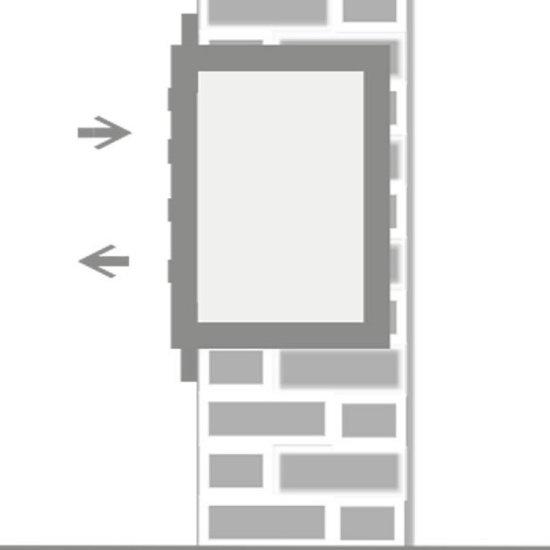 Brievenbus groot 3 adressen met rand (inbouw)