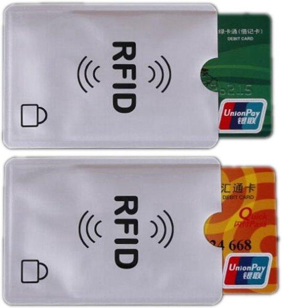 b9de1bdd50b Hoesje voor pasjes met RFID bescherming – Bescherm jezelf tegen contactloos  pinnen fraude - Set van