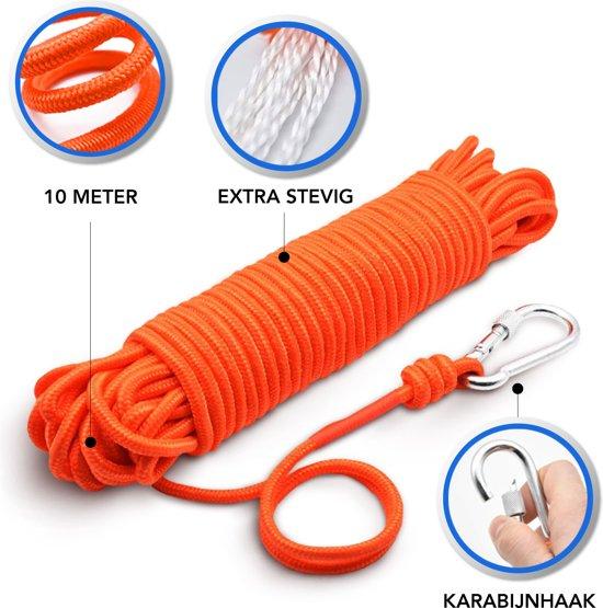 Vismagneet - 100 KG Trekkracht - Onderwater Magneetvissen - 10 Meter Touw - Karabijnhaak
