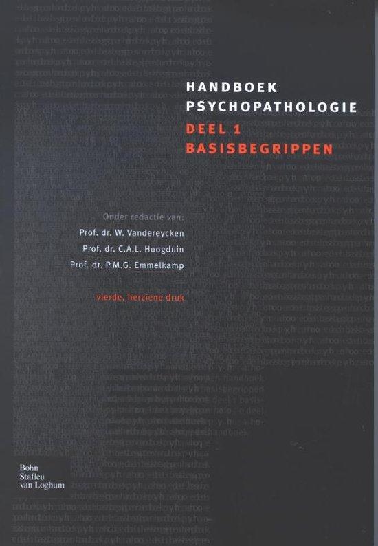 Handboek Psychopathologie 1 Basisbegrippen