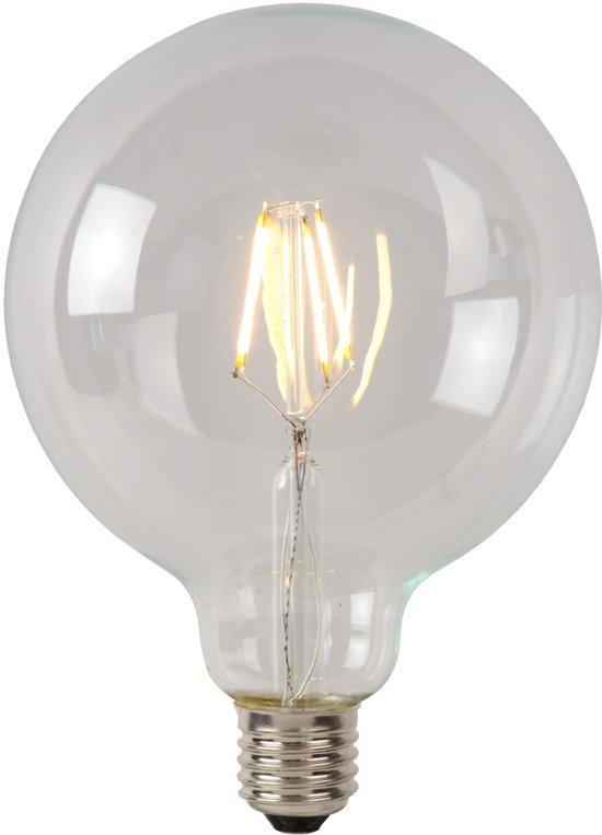 Lucide LED BULB - Filament lamp - Ø 12,5 cm - LED Dimb. - 1x5W 2700K - Transparant