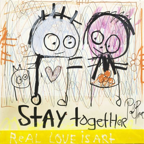 Poul Pava - Doek Stay Together - 120x120 cm