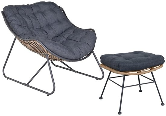 Bol.com garden impressions carmen lounge fauteuil incl voetenbank