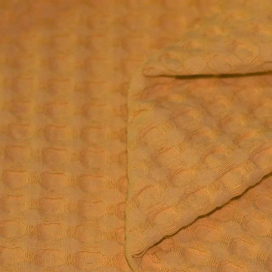 Ini & Mini Aankleedkussenhoes Dotty / Oker - Bebe jou (44x72x9)