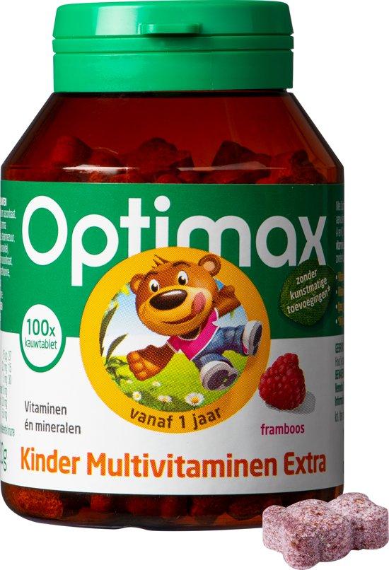 Optimax Kinder Multi EXTRA framboos - 100 kauwbeertjes