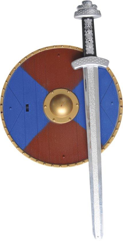 Vikingset met Schild (20cm) en Zwaardje ( 40cm)