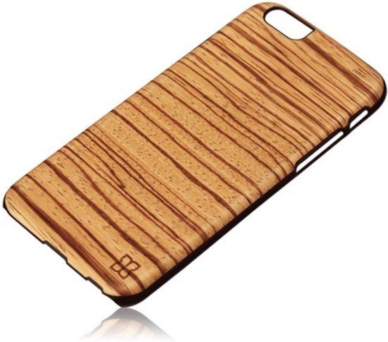 Man&Wood Premium Eco Wood Case Zebrano Black voor Apple iPhone 6 / 6s