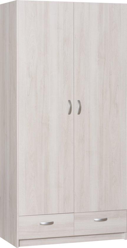 Opbergkast White Wash.True Furniture Siem 22r Kledingkast White Wash