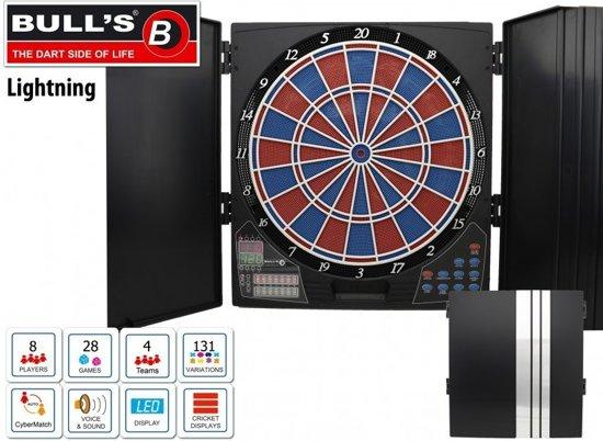 Bulls Lightning Electronisch Dartbord Inclusief Kabinet En 2 Sets Dartpijlen