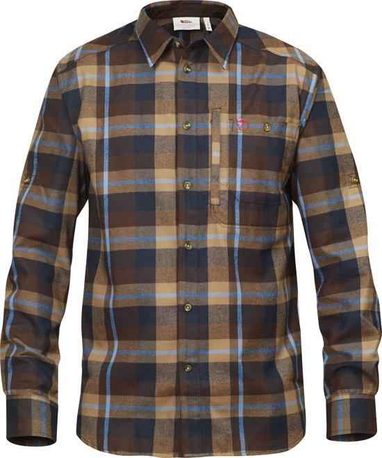 FjÀllrÀven FjÀllglim overhemd lange mouw Heren bruin/blauw maat S