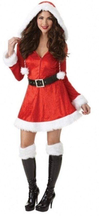 98ebcbf073b2e5 Kerst verkleedjurkje dames met capuchon S - Kerst kleding vrouwen