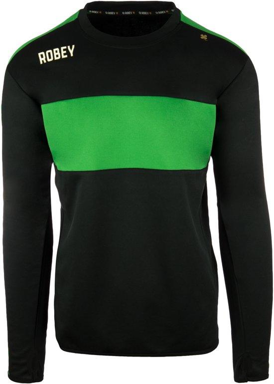 Robey Sweater - Voetbaltrui - Black/Green - Maat XL