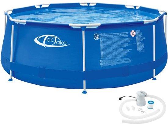 TecTake -  Swimming pool rond met filterpomp Ø 300 x 76 cm