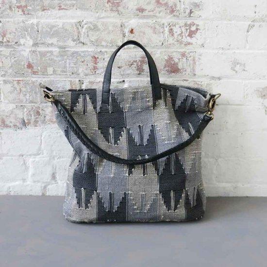 2a2b2efbdf5 MoreThanHip Shopper tas van handgeweven katoen met afneembare schouderriem  - Pyaro grijs
