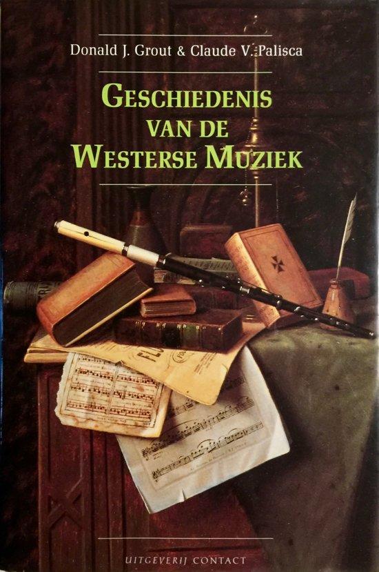 Cover van het boek 'Geschiedenis van de westerse muziek'
