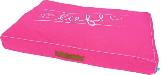 Lief! ligkussen lounge lief girls roze 100x70 cm