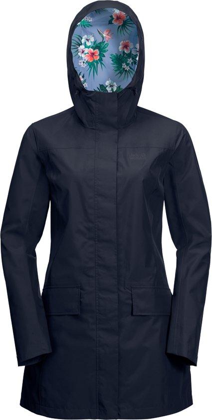 York W Outdoorjas Dames Midnight Jack Blue Wolfskin Coat Cape w7C6xUUZq1