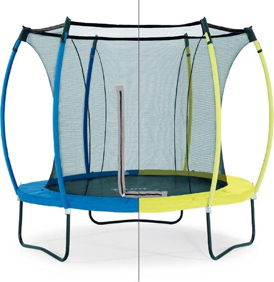 Plum Colours Springsafe - Trampoline - 8ft - omkeerbaar - Limoengroen/Blauw