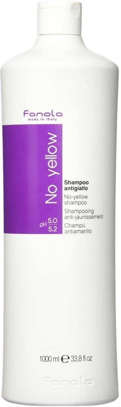 Fanola - No Yellow - Shampoo - 1000ml - Zilvershampoo
