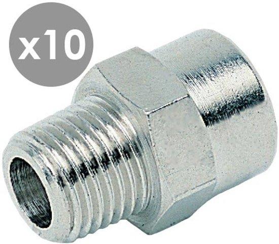 R1/8'' Bu x G1/4'' Bi neusstuk konisch (voordeel 10 stuks) - 20403-10