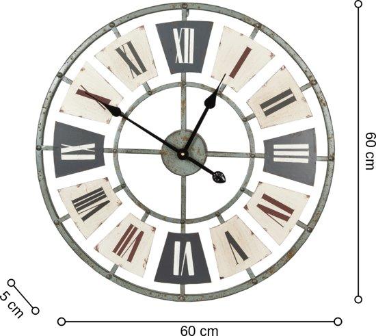 Dulaire Wandklok Romeinse Cijfers Metaal 60 cm - incl. batterij
